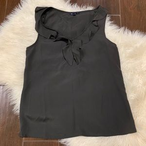 🌵GAP Dark Charcoal Gray Ruffle Blouse